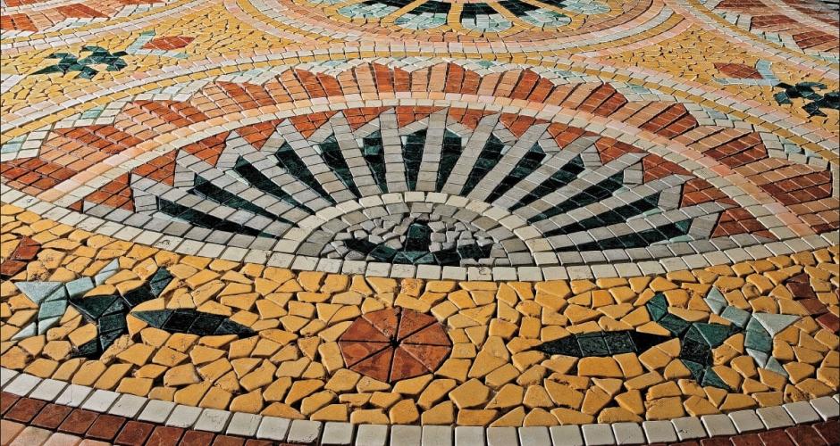 Мозаика из мрамора и гранита
